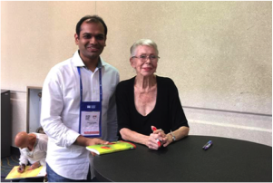 <center>Shashank Gupta with Louise Hay</center>